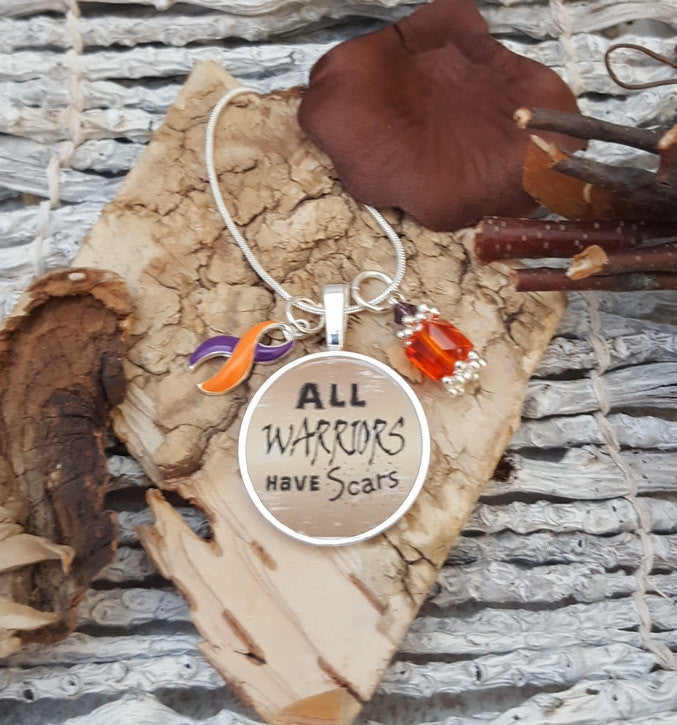 OP-5 Psoriatic Arthritis Necklace Ramsay Hunt Awareness Crps All Warriors Have Scars Necklace
