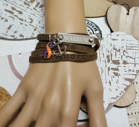 OP-4 Crps Awareness Add Adhd Psoriatic Arthritis Jewelry Wrap Leather Bracelet