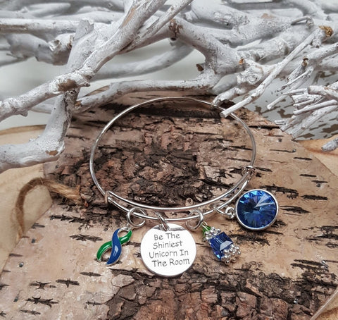 GB-4 IIH Intracranial Hypertension AVN Unicorn Bracelet Awareness Jewelry