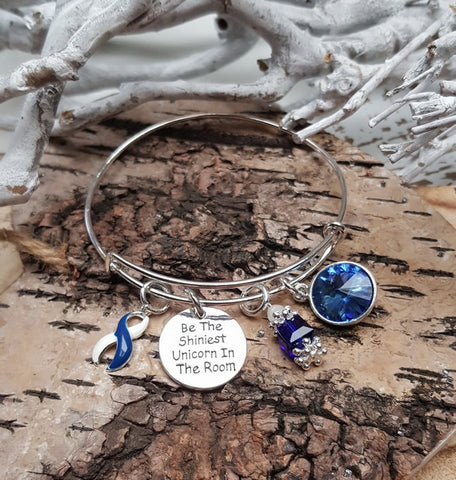 BLW-4 ALS Awareness Colon Cancer Survivor Unicorn Bracelet Awareness Jewelry