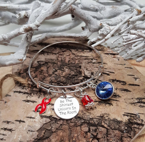 RE-1 Stroke Awareness Heart Disease Unicorn Bracelet Awareness Jewelry