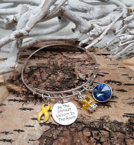 YE-1 Endometriosis Sarcoma Spina Bifida Suicide Unicorn Bracelet Awareness Jewelry