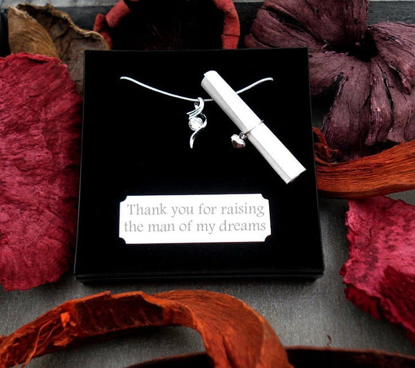 WN Crystal Drop Necklace Gift For Mother of Groom-The Man Of My Dreams