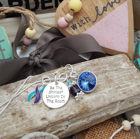 TP-5 Suicide Prevention Domestic Violence Sexual Assault Unicorn Necklace Awareness