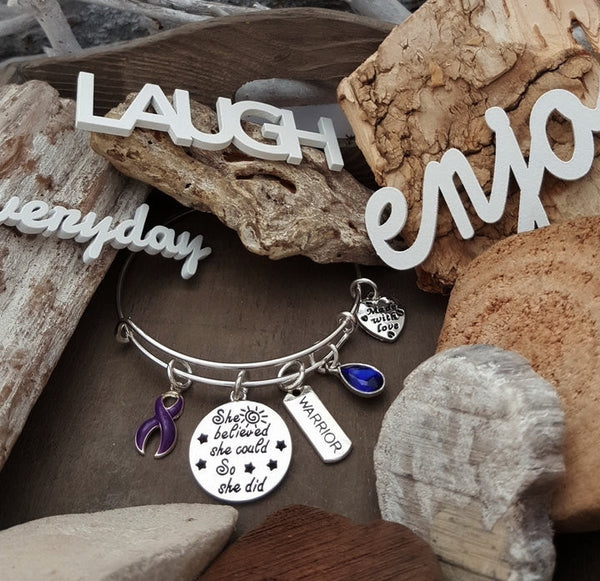 DP-1 Chiari Malformation Fibromyalgia Lupus Awareness Bracelet She Believed She Could So She Did