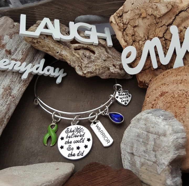 LG-1 Lung Transplant Lyme Disease Awareness Bracelet She Believed She Could So She Did