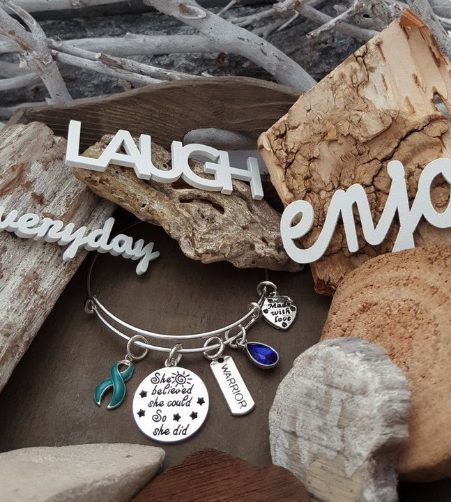 TE-1 PTSD Anxiety Sexual Assault Awareness Bracelet She Believed She Could So She Did