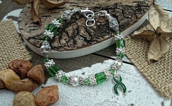 DG-4 Organ Donor Kidney Disease Awareness Donor Jewelry Beaded Bracelet