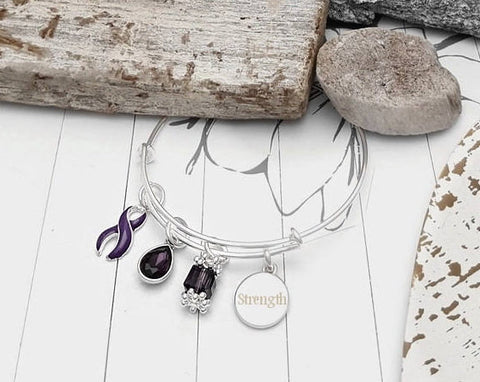 DP-1 Ulcerative Colitis Fibromyalgia Crohns Chiari Awareness Bracelet - Tear Drop Edition