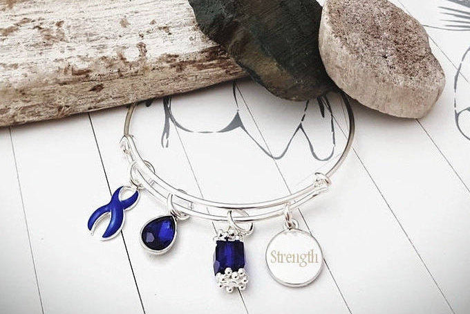 DB-1 Child Abuse Bully Awareness Child Depression Awareness Bracelet - Tear Drop Edition