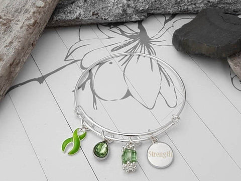 LG-1 Lyme Disease Lung Transplant Gastroparesis Awareness Bracelet - Tear Drop Edition