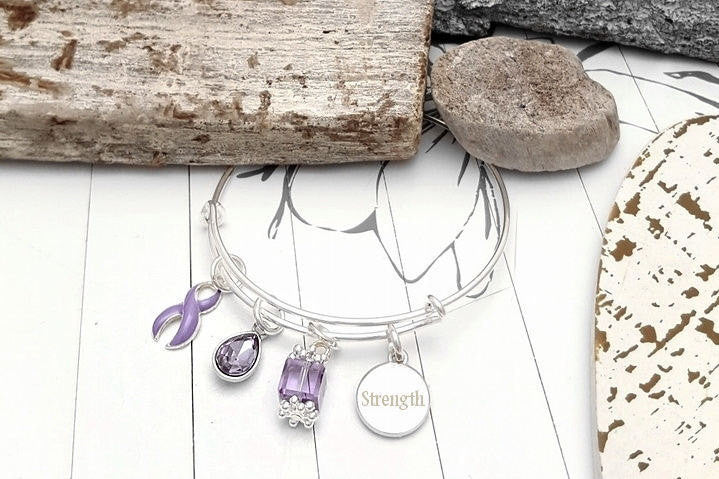 LP-1 Eating Disorder Epilepsy Stomach Esophageal Cancer Awareness Bracelet - Tear Drop Edition