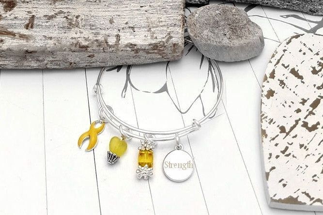 YE-1 Sarcoma Spina Bifida Endometriosis Suicide Prevention Awareness Bracelet - Tear Drop Edition
