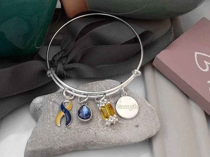 YB-4 Down Syndrome Awareness Bracelet - Tear Drop Edition