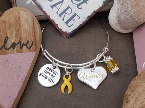 YE-1 Suicide Awareness Spina Bifida Sarcoma Endometriosis Awareness Never Give Up Warrior Bracelet