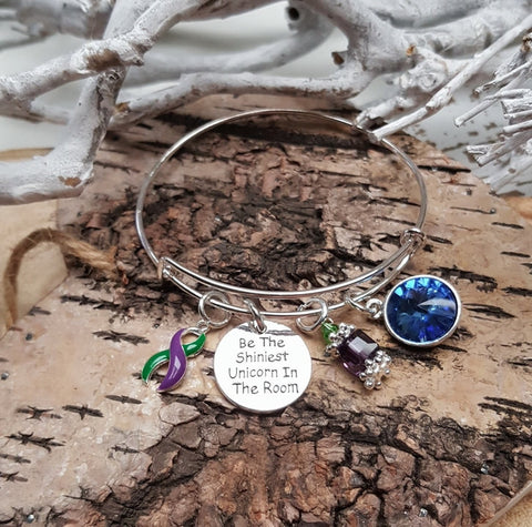 GP-4 Hemiplegic Migraine Fibromyalgia & Lyme Disease Unicorn Bracelet Awareness Jewelry
