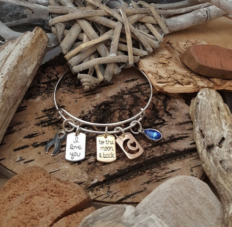 GR-1 BPD Bracelet Personality Disorder Awareness Jewelry I Love You To The Moon & Back Bracelet