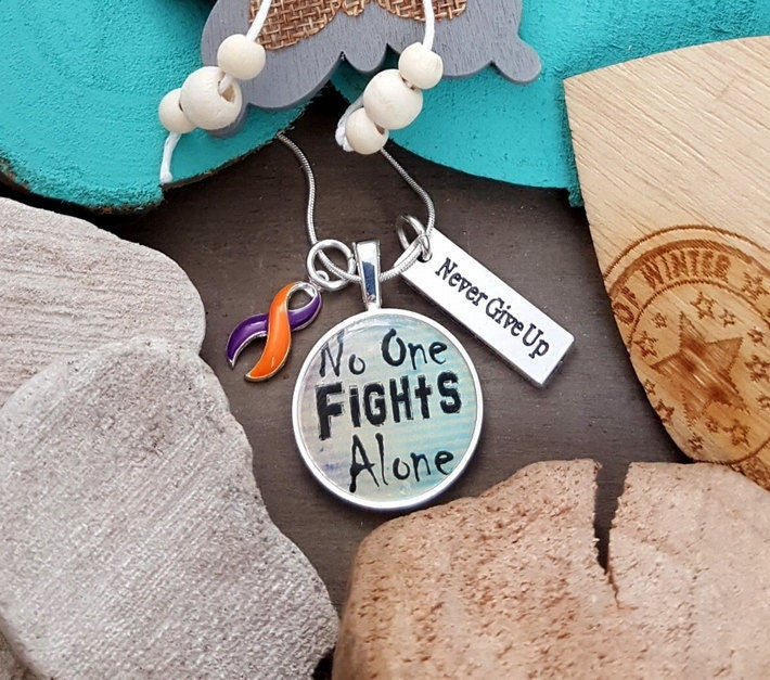 OP-5 Psoriatic Arthritis Ramsay Hunt CRPS Awareness ADD ADHD Necklace No One Fights Alone