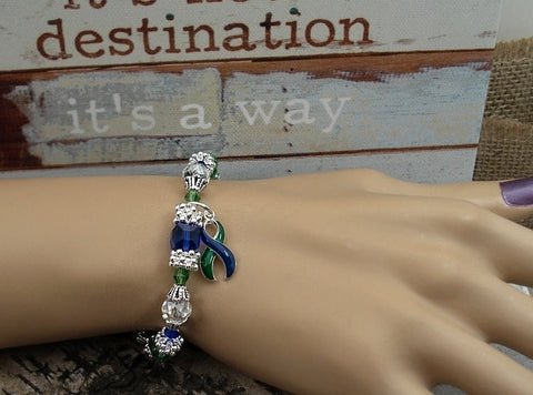GB-4 IIH Awareness Neurofibromatosis Awareness Jewelry Beaded Bracelet