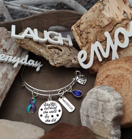 TP-4 Suicide Prevention Awareness Jewelry Bracelet She Believed She Could So She Did