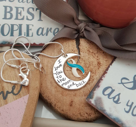 TW-5 Eating Disorder Recovery Jewelry Awareness Necklace I Love You To The Moon & Back