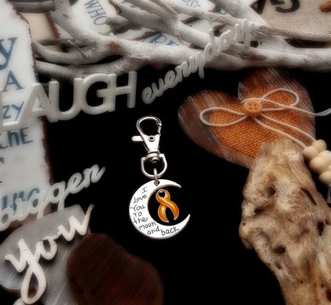 GO-3 Appendix Cancer Child Cancer Awareness Keychain Love You To The Moon & Back