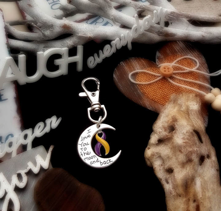 YP-6 Bladder Cancer Survivor Awareness Keychain Love You To The Moon & Back