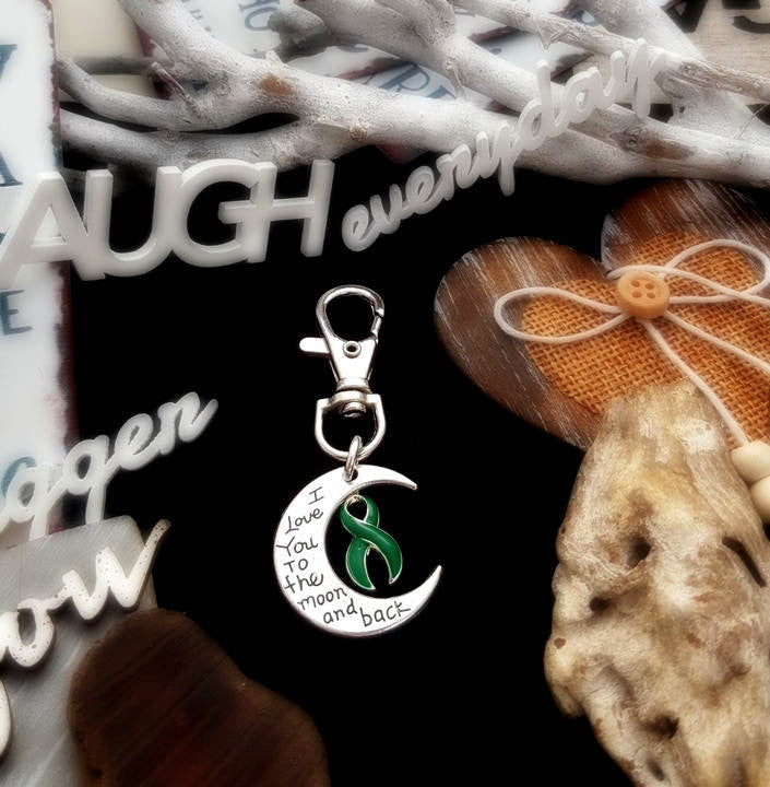 DG-3 Kidney Disease Kidney Organ Donor Awareness Keychain Love You To The Moon & Back