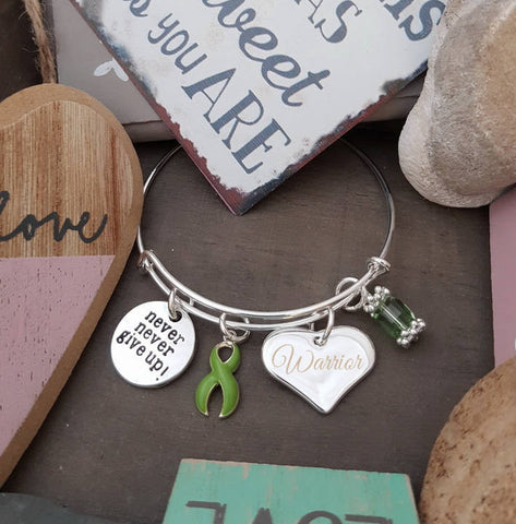 LG-1 Lymphoma Lyme Disease Lung Transplant Awareness Never Give Up Warrior Bracelet