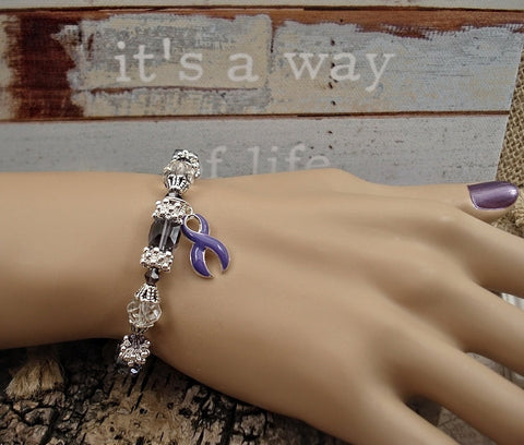 DP-1 Chiari Awareness Ulcerative Colitis Crohns Disease Lupus Jewelry Beaded Bracelet