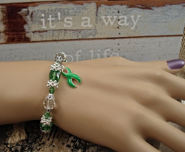 LG-1 Lung Transplant Lyme Disease Lymphoma Awareness Jewelry Beaded Bracelet
