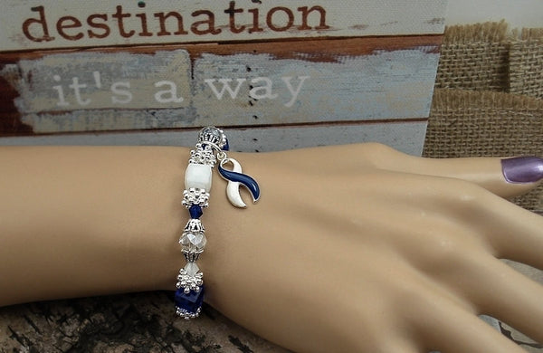 BLW-4 ALS Awareness Colon Cancer Survivor Jewelry Beaded Bracelet