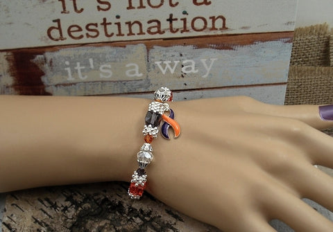 OP-4 ADD ADHD Psoriatic Arthritis Crps Ramsay Hunt Awareness Jewelry Beaded Bracelet