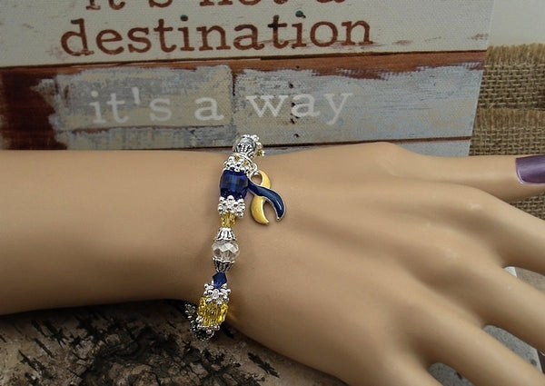 YB-4 Down Syndrome Awareness Jewelry Beaded Bracelet