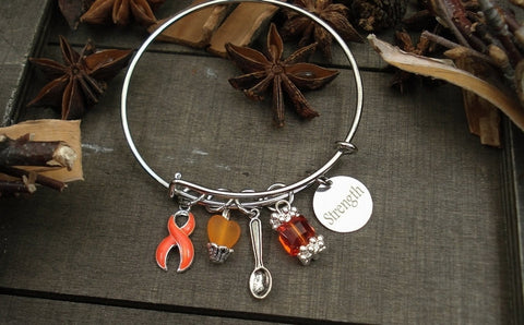 RO-1 Leukemia Bracelet MS RSD Self Harm Cutting Kidney Cancer Awareness Spoonie Bracelet
