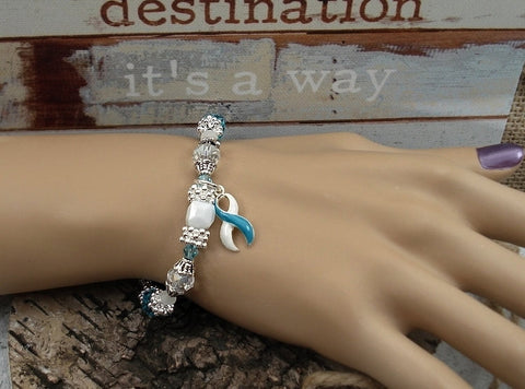 TW-4 Eating Disorder Recovery Jewelry Awareness Beaded Bracelet