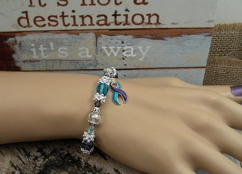 TP-4 Suicide Prevention Syringomyelia Awareness Jewelry Beaded Bracelet