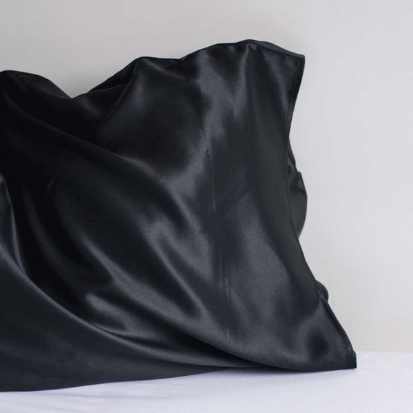 Black silk pillow case from lelini