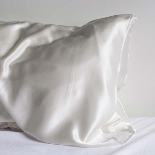 White silk pillow case from lelini