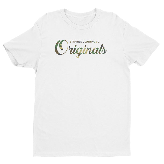 Originals Script T-Shirt - Woodland Camo