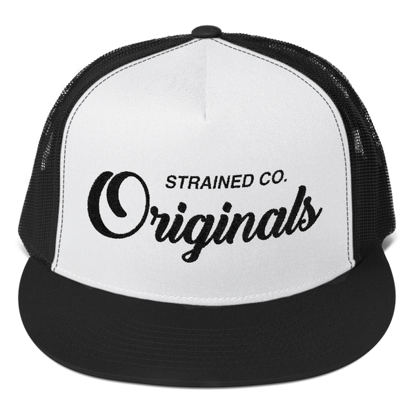Originals Script - Black/White/Black Trucker Cap