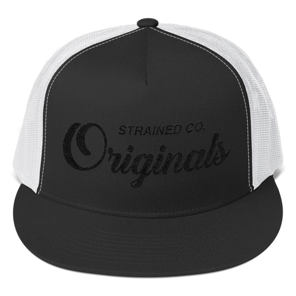 Originals Script - Black/White Trucker Cap