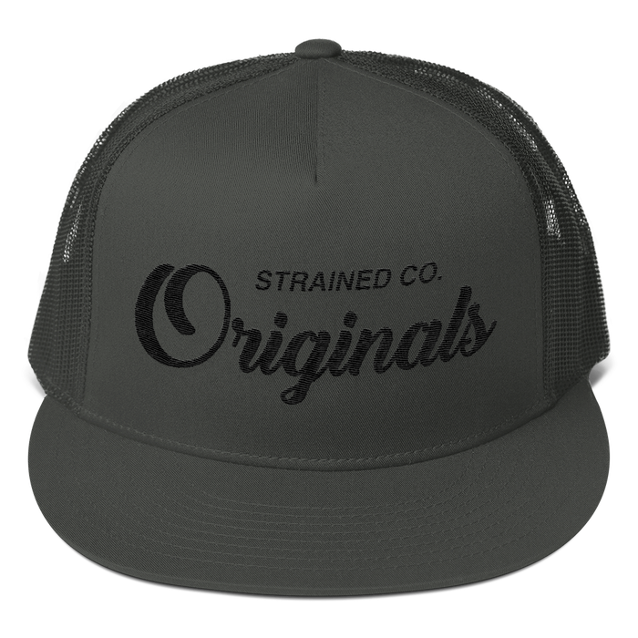 Originals Script - Charcoal/Black Trucker Cap