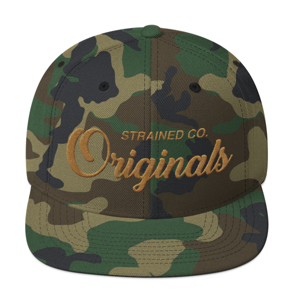 Originals Script - Camo/Copper Snapback