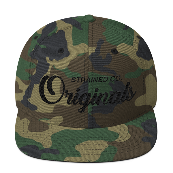 Originals Script - Camo/Black Snapback
