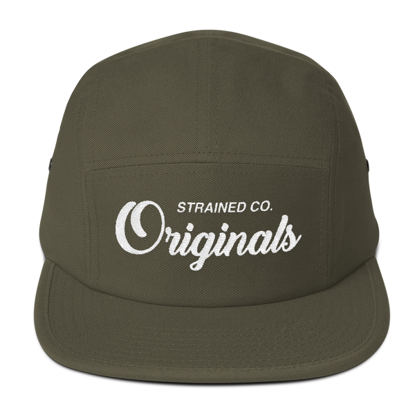 Originals Script - Olive/White 5 Panel