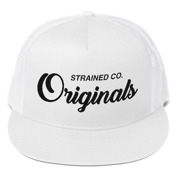 Originals Script - White/Black Trucker Cap