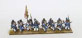 Sardinian Infantry in Great Coats - March Attack