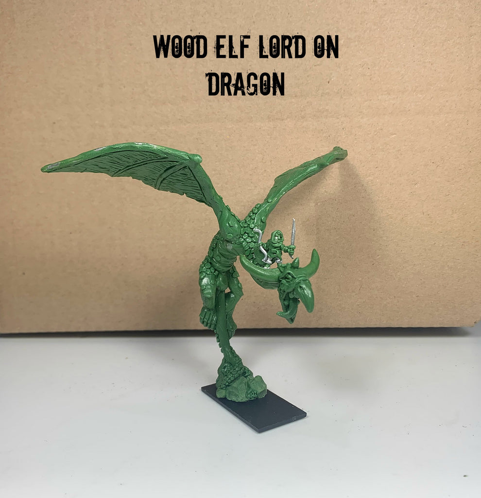 silvern elf lord on dragon