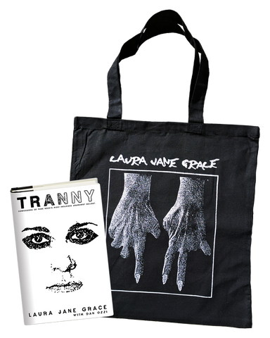 Tranny Hardcover Book + Fingers Tote Bag